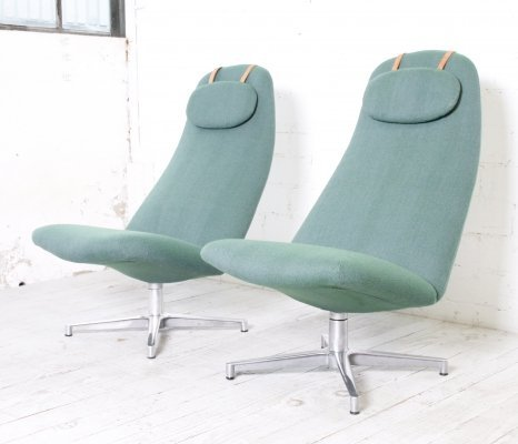 Pair of Contourette Roto lounge chairs by Alf Svensson for Dux, 1960s