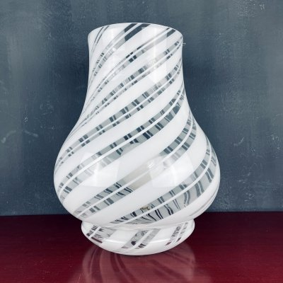 Xl vintage murano table lamp by G.G. Luce, Italy 1980s
