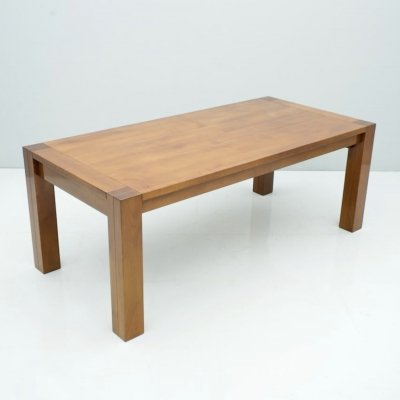 Large Solid Cherrywood Extendable Dining Table, 1990s