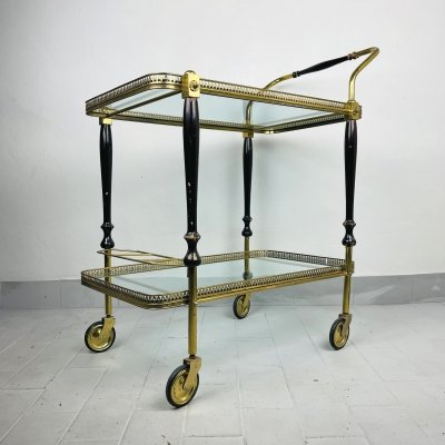 Vintage Serving Bar Cart by S.W. Germany, 1950s