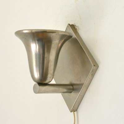 Nickel plated wall light by Gispen, 1930s