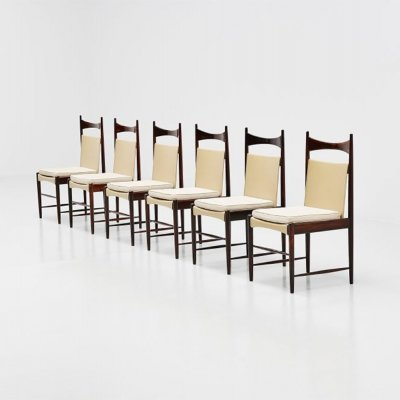 Set of 6 Cantu dining chairs by Sergio Rodrigues for OCA, 1950s