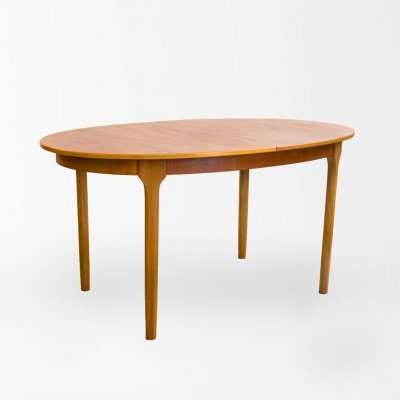 Mid Century teak extendable dining table by Mcintosh, UK 1970's