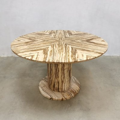 Midcentury Onyx marble dining table by Stone International, 1970s