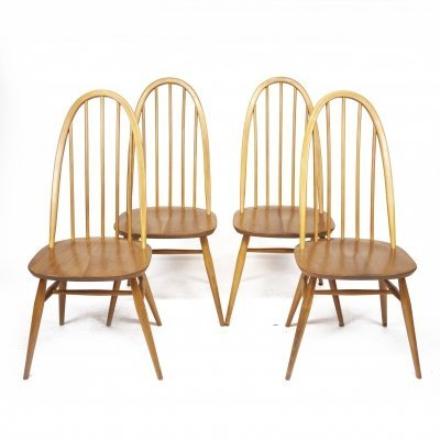 Vintage Beech & Elm 365 Windsor Quaker Dining Chairs by Ercol, 1960s