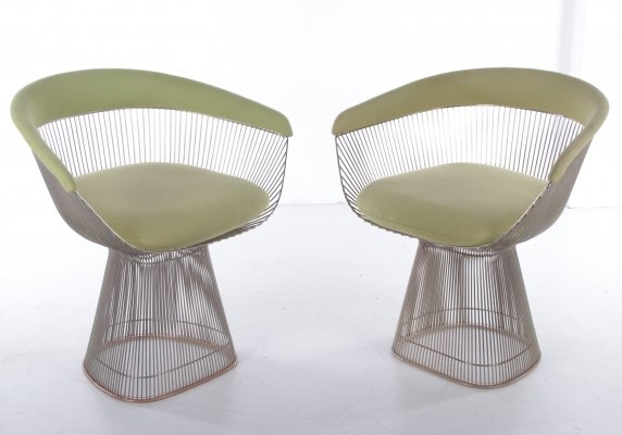 Set of Rare Warren Platner chairs for Knoll, 1960s
