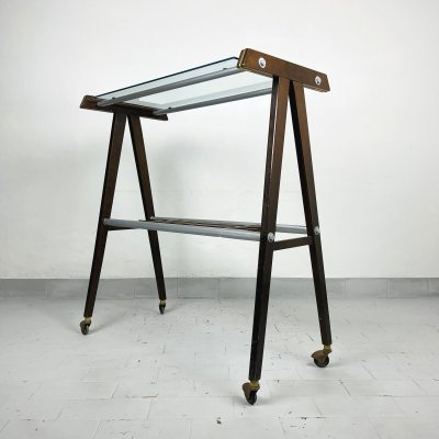 Mid-century TV stand or trolley serving bar, Italy 1960s