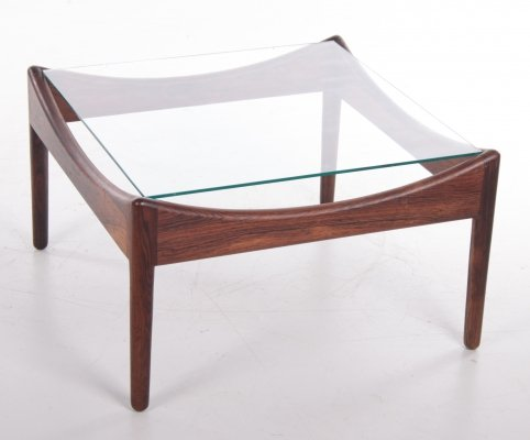 Pallisander Coffee Table with Glass Top by Kristian Vedel for Søren Willadsen, 1960s