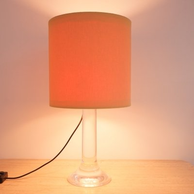 Lucite & Chrome Table Lamp, 1970s