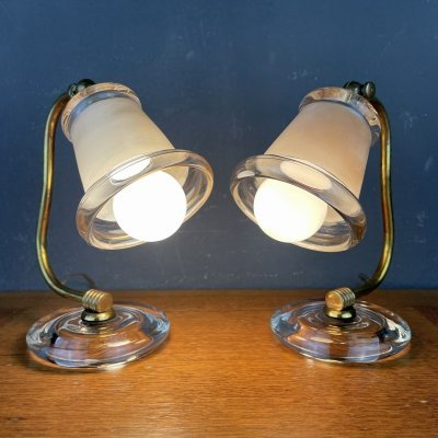 Pair of Mid-century bedside lamps, Italy 1970s
