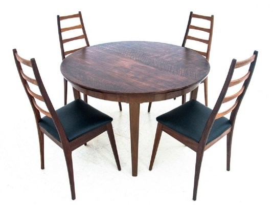 Table with chairs, Denmark 1960s