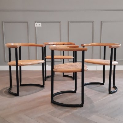 Set of 4 Achillea Dining Chairs by Tito Agnoli for Ycami Collection, 1970s