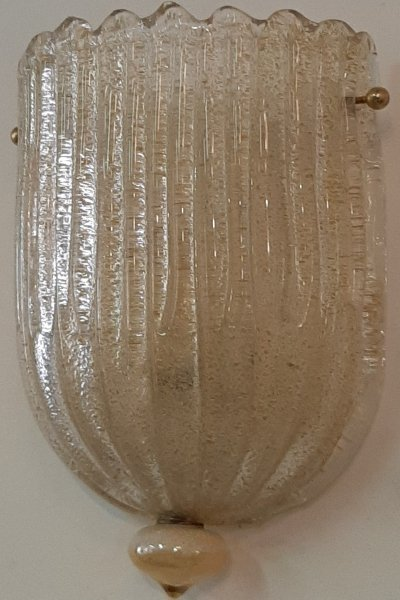 Pair of Murano style wall lamps, 1950s