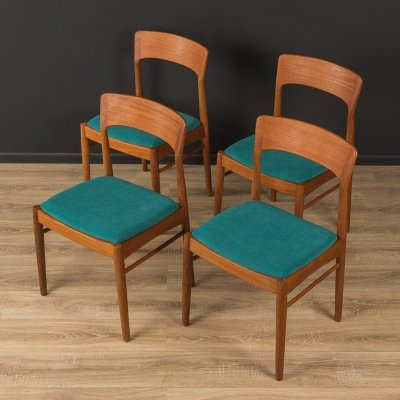 Set of 4 dining chairs by K.S. Møbler, Denmark 1960s