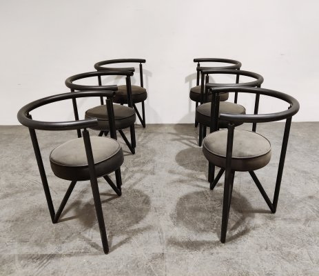 Set of 6 Miss Dorn chairs by Philippe Starck for Disform, 1980s