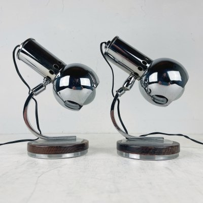 Pair of mid-century table lamps, Italy 1970s