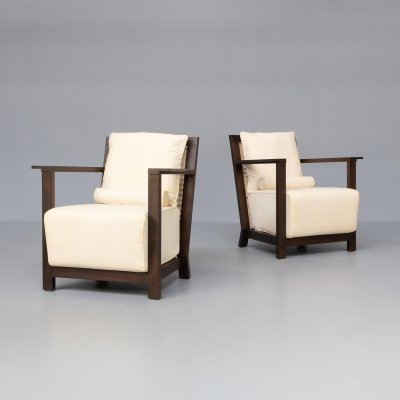 Pair of Paola Navone 'Otto 111' fauteuils for Gervasoni, 1990s