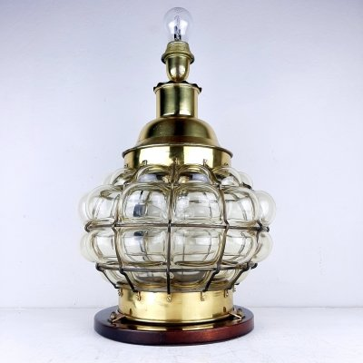 Vintage large Bubble Glass table lamp, Italy 1960s