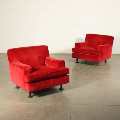 Pair of 'Square' Armchairs by Marco Zanuso for Arflex