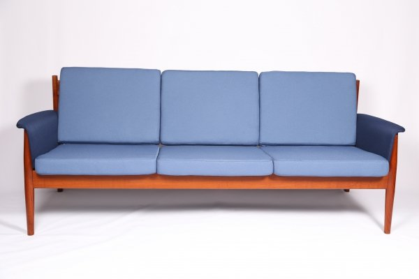 Midcentury 3-Seater Sofa by Grete Jalk for France & Sons, 1960s