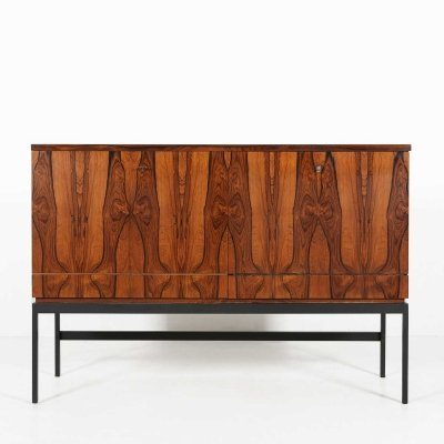 Mid-century bar cabinet in rosewood, 1960s