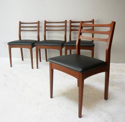 Set of 4 mid century 1960's English dining chairs