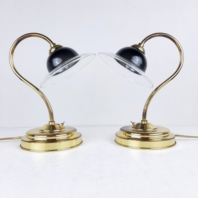 Pair of vintage bedside lamps, Italy 1990s