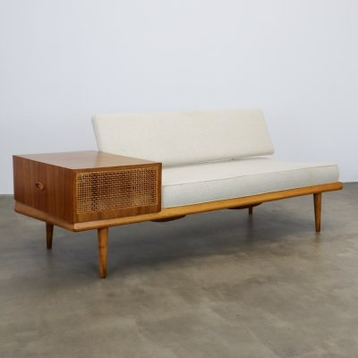 Daybed with rattan detail, 1960s