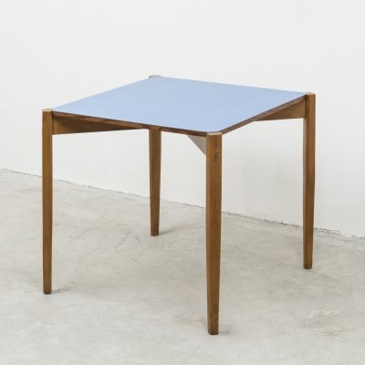 Unique gaming or dining table by Giulio Alchini with blue formica top, 1950s