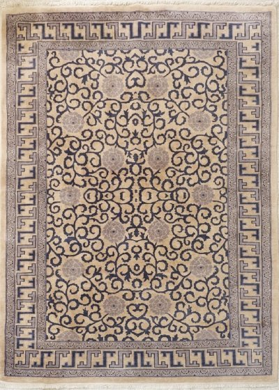Russian Carpet with Chinese Patterns, Circa 1980