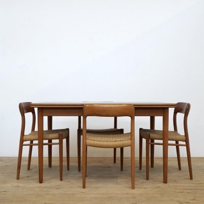 Niels Otto Moller table & 4 chairs, 1960s