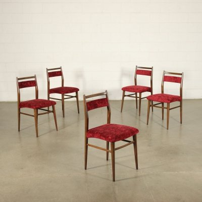 Set of five 1950s Italian Dining Chairs
