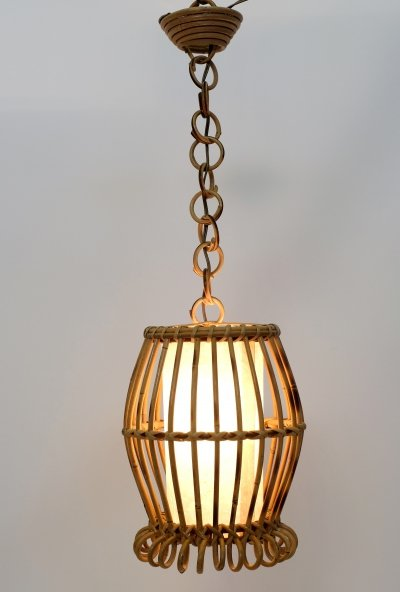 French bamboo pendant, 1960s
