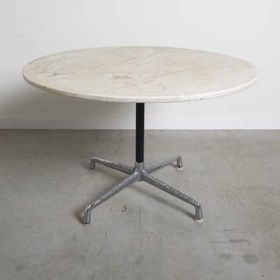 Mid century marble contract table by Charles & Ray Eames for Herman Miller, 1960s