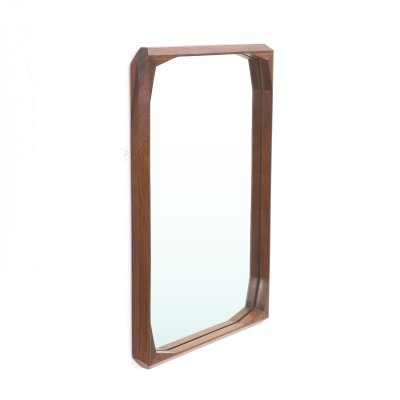 Rectangular shaped wooden frame mirror by Tredici & Co., 1960's