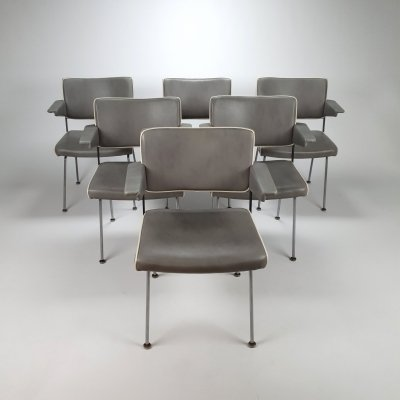 Set of 6 chairs by André Cordemeijer for Gispen, 1970's