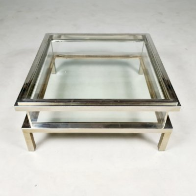 Sliding top coffee table by Maison Jansen, 1970s