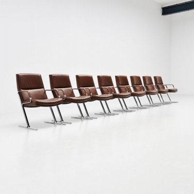 Fabricius & Kastholm FK711 office chairs by Walter Knoll, Germany 1971