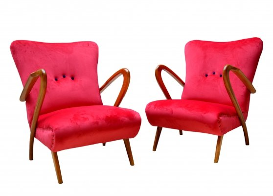 Pair of Armchairs by Guglielmo Ulrich, 1940s