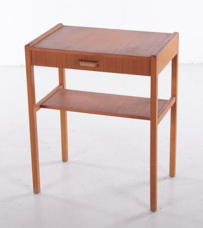 Danish Teak bedside table with drawer, 960s