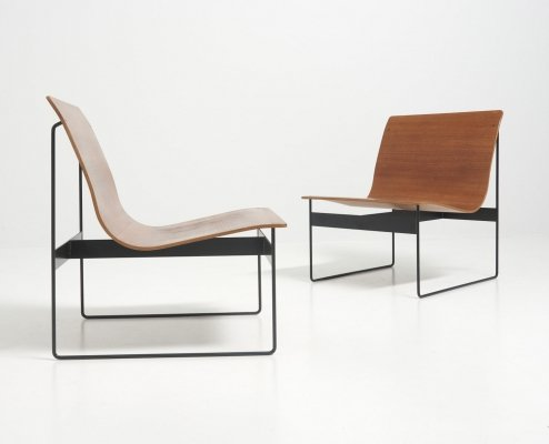 Pair of Modernist Easy Chairs by Günter Renkel for Rego, Germany 1950's