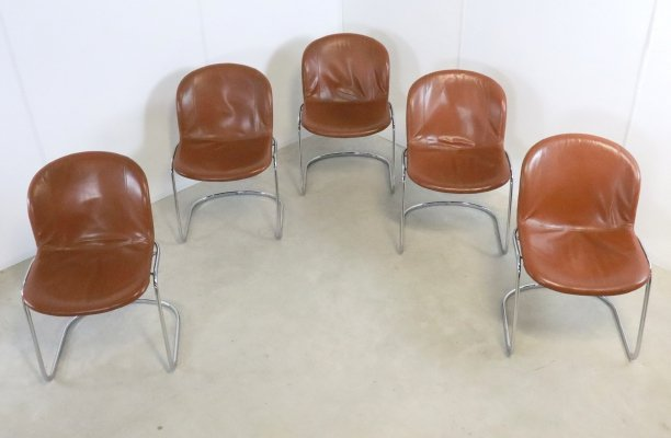 Set of 5 Thema Italy chairs designed by Gastone Rinaldi