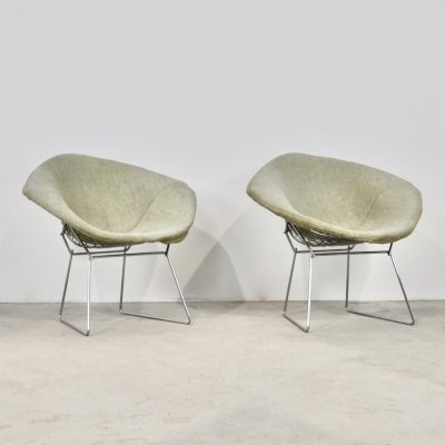 Pair of Diamond Chairs by Harry Bertoia for Knoll, 1970s