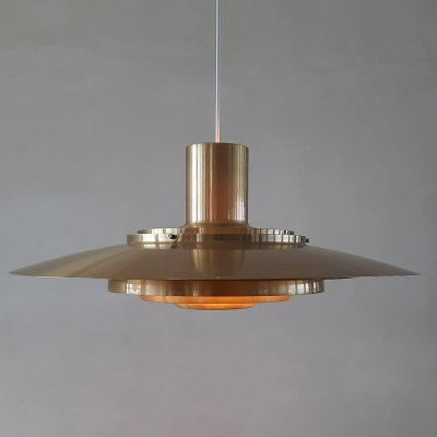 Brass p376 hanging lamp by Kastholm & Fabricius for Nordisk Solar, Denmark 1960s