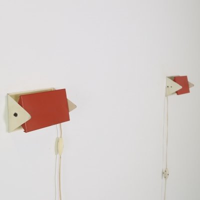 Pair of bed lamps by J. Hoogervorst for Anvia Almelo, 1960s