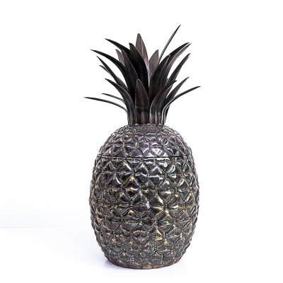 Silver plated pineapple ice bucket by Teghini Firenze, 1970s