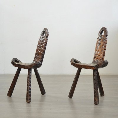 Pair of French Mid-Century Birthing Chairs, 1950s