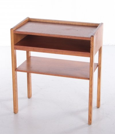 Danish Bedside table with 3 shelves, 1960s