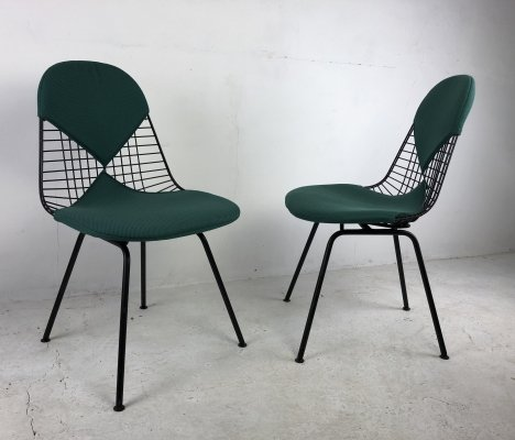Pair of 'Bikini' Wire Chairs by Charles & Ray Eames for Vitra, 1950s