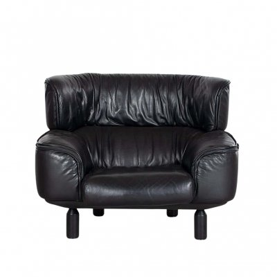Bull leather armchair by Gianfranco Frattini for Cassina, 1987